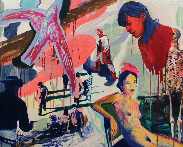S/T. Acrílico sobre lino. 120 x 140 cm. 2013.
