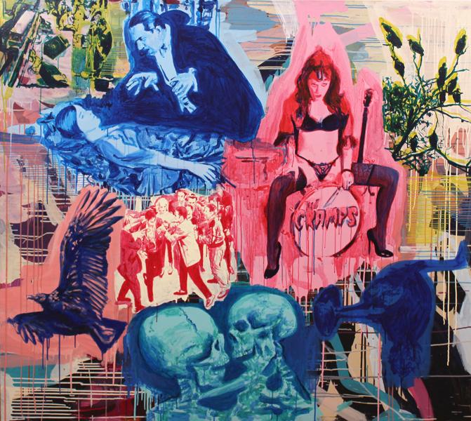 S/T. Acrílico sobre lino. 160 x 180 cm. 2013.