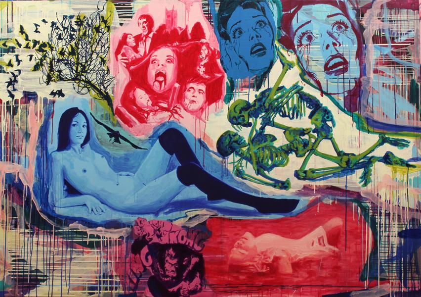 S/T. Acrílico sobre lino. 140 x 200 cm. 2013.