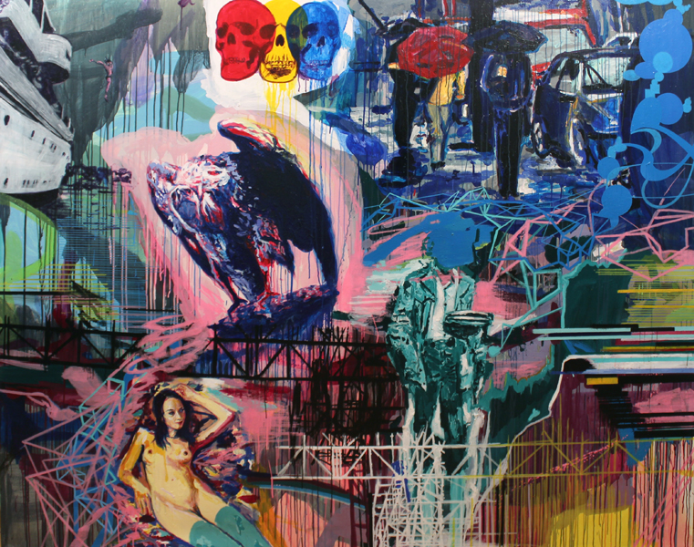 S/T. Acrílico sobre lino. 190 x 240 cm. 2013.