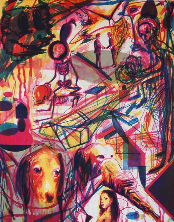 S/T. Litografía a color. 60 x 50 cm. 2012.