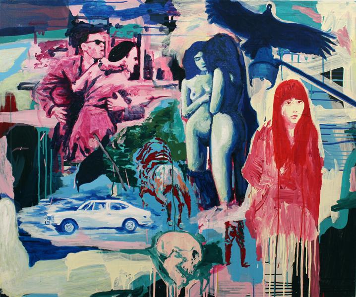 S/T. Acrílico sobre lino. 80 x 60 cm. 2013.